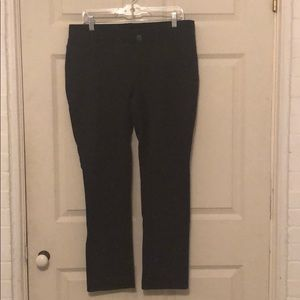 Lane Bryant knit/elastic waist pants, dark gray